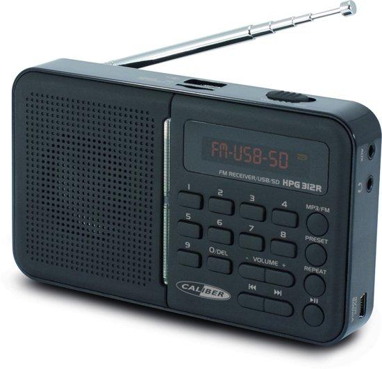 Caliber HPG312R/B - Draagbare FM radio - Zwart