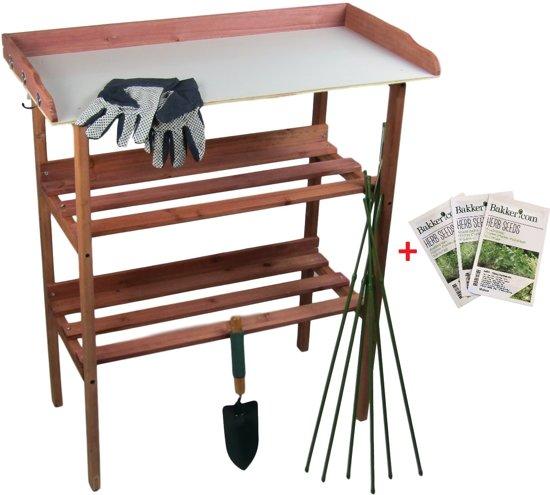 Maxx Oppottafel - plantentafel voor zaaien en verpotten 80x40x86cm