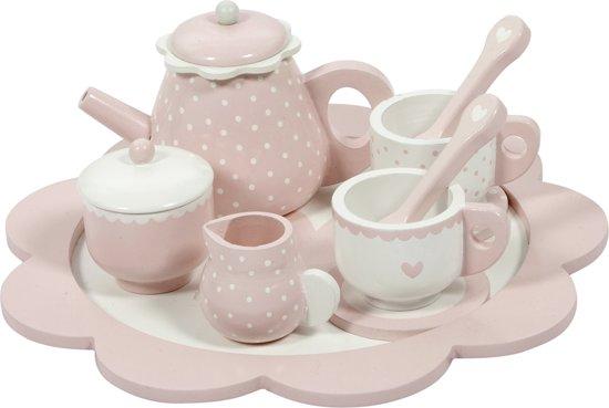 Afbeelding van LD Houten Thee service Adv. pink speelgoed