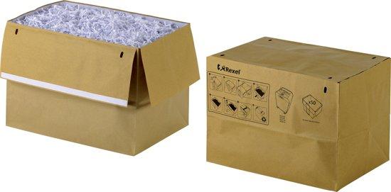 Rexel Recyclebare 50 afvalzakken voor papiervernietigers 50 liter