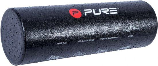 Pure2Improve Foamroller - zwart/wit/rood