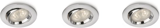 ELLIPSE recessed chrome 3x4.5W SELV