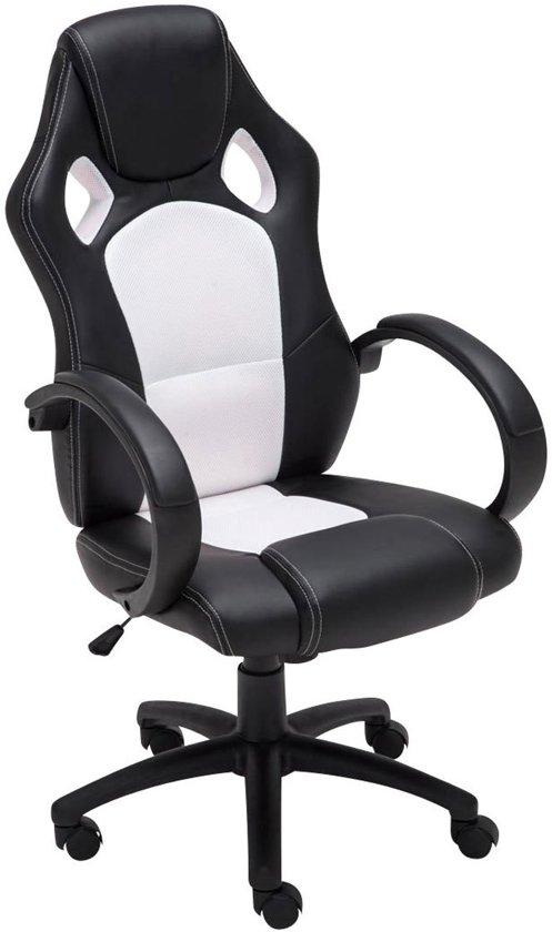 Clp Gaming-stoel - Racing bureaustoel FIRE - Sport seat Racing design - wit