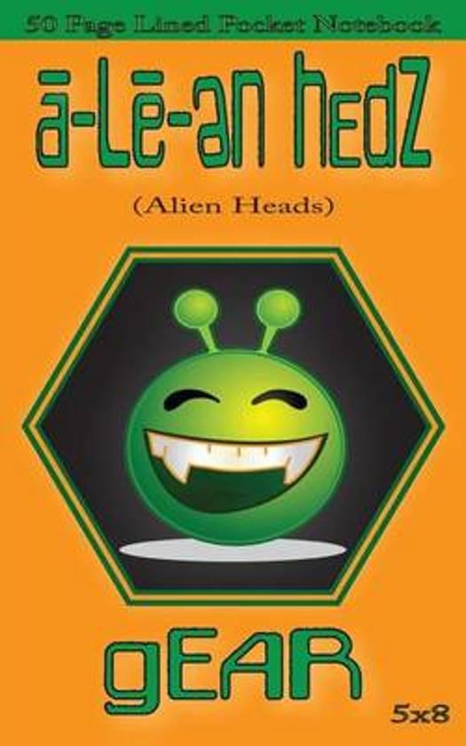 A-Le-En Hedz (Alien Heads) Gear 50 Page Lined Pocket Notebook