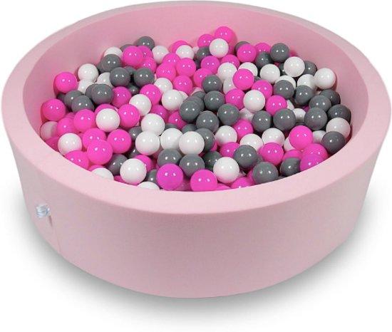 Ballenbak - 400 ballen - 115 x 30 cm - ballenbad - rond roze