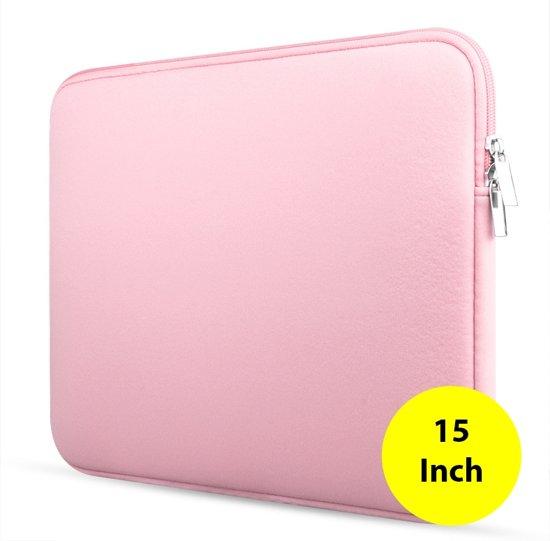 069adbb28d5 Laptop & macbook sleeve - opberghoes laptop - laptop case - 15 inch - Roze -