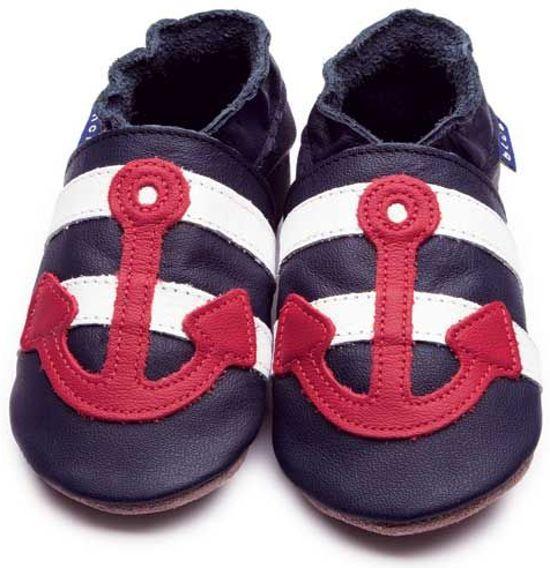 Inch Blue babyslofjes sailor navy red maat L (13,5 cm)