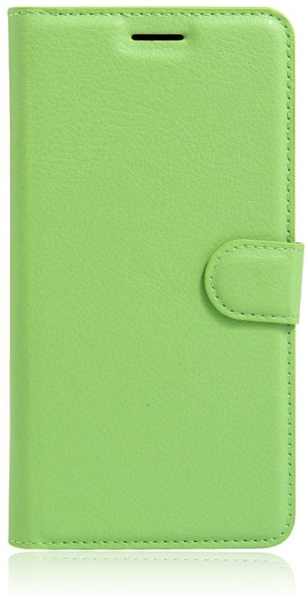 Shop4 - iPhone 8 Plus Hoesje - Wallet Case Lychee Groen in Koekange