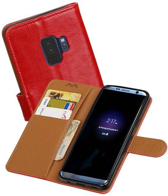 Type De Livre En Cuir Rouge Luxe Cas Pour Samsung Galaxy S, Plus S9