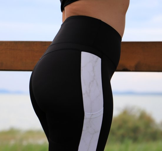 Shaping Sportlegging.Bol Com Shaping Dames Sportlegging Zwart Wit High Waist Met Zak