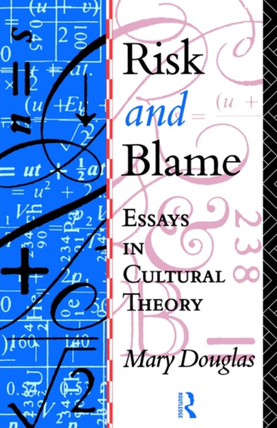 an analysis of mary douglass cultural study risk and blame