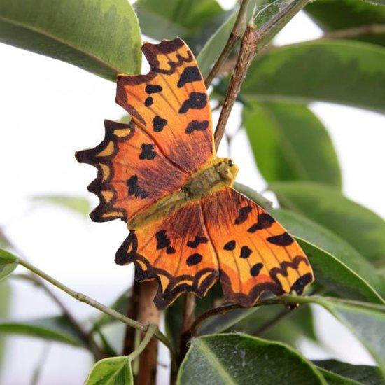 Vlindermagneet gehakkelde aurelia - set van 4 stuks