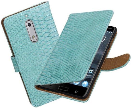 BestCases.nl Nokia 5 Slang booktype hoesje Turquoise in De Aa