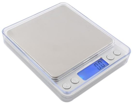 Weegschaal 2kg Zilver
