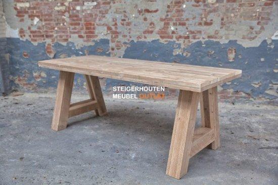 Mooie tafel van gebruikt steigerhout te koop dehands be