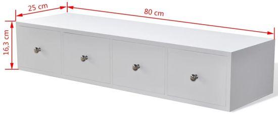 Opbergkast Met Lades.Ladekast Met 4 Lades Wit 80 X 25 X 16 3 Cm Dressoir Tafel Opbergkast Met Lades