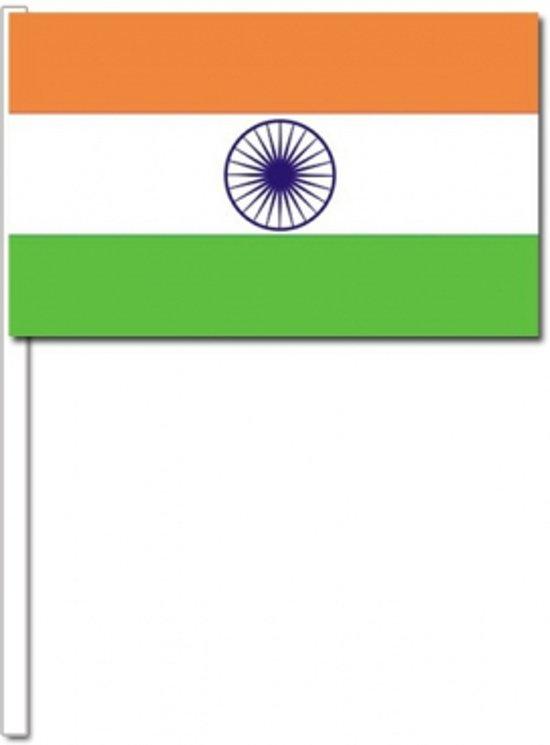 50 Indiase zwaaivlaggetjes 12 x 24 cm