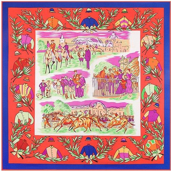 Sjaal Dames - Zijde blend - 130*130CM - met giftbox - shawl stola - print