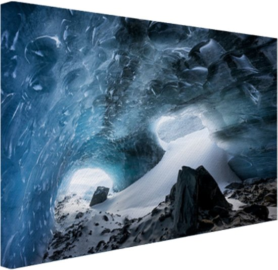 Gletsjergrot Canvas 80x60 cm - Foto print op Canvas schilderij (Wanddecoratie)
