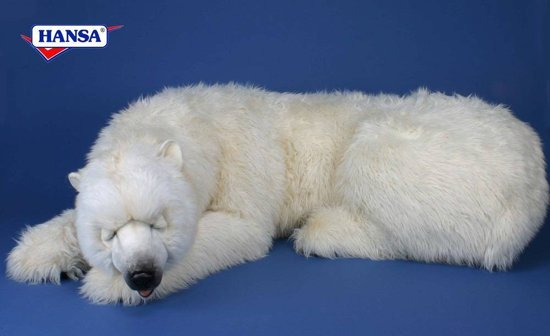Hansa Pluche IJsbeer slapend, 200 cm