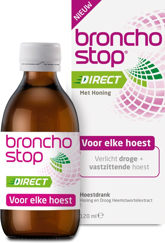 Bronchostop Direct - met Honing - 120ml