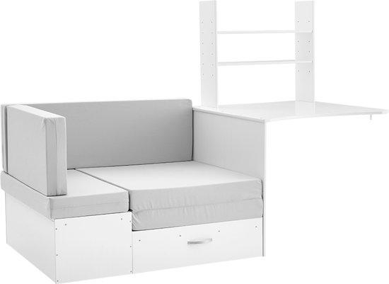 Complete Slaapkamer Met Halfhoogslaper.Bol Com Beddenreus Woodworld Bank Met Kussenset En Bureau