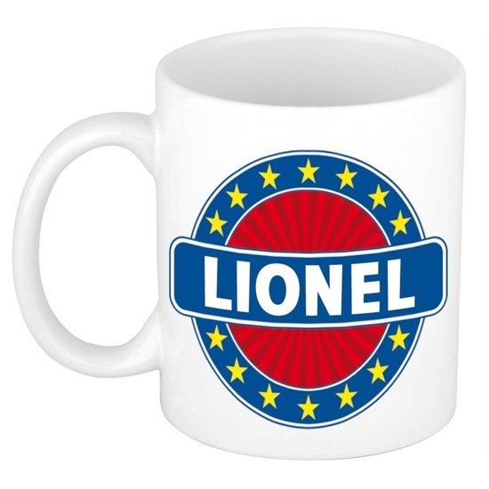 Lionel  naam koffie mok / beker 300 ml  - namen mokken
