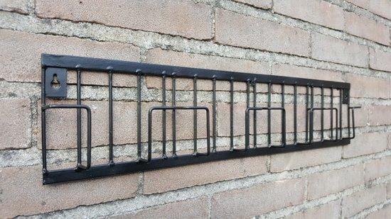 Kaartenrek - Metaal - Zwart - Hoogte 12,5 cm - Breedte 56 cm - Thasth Design