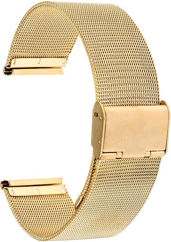 Horlogeband - metaal - Goud- 16 mm