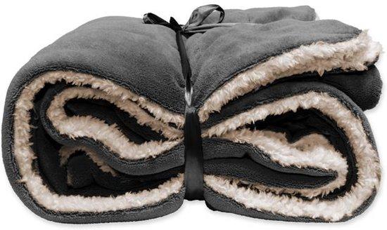 Unique Living Lars - Fleece - Plaid - 150x200 cm - Donker grijs