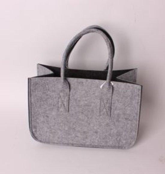 Handgemaakte Vilten Tas : Bol vilt tas zwart grijs klein vdostyle