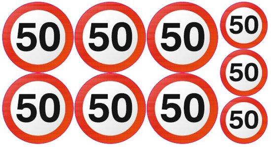 jaar 50 bol.| 50 jaar grote verkeersbord stickers, Stickerboerderij  jaar 50