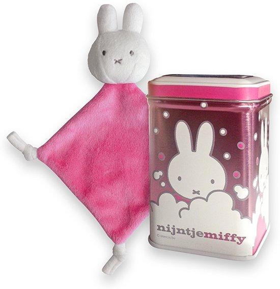 Blik Nijntje Knuffeldoek Roze