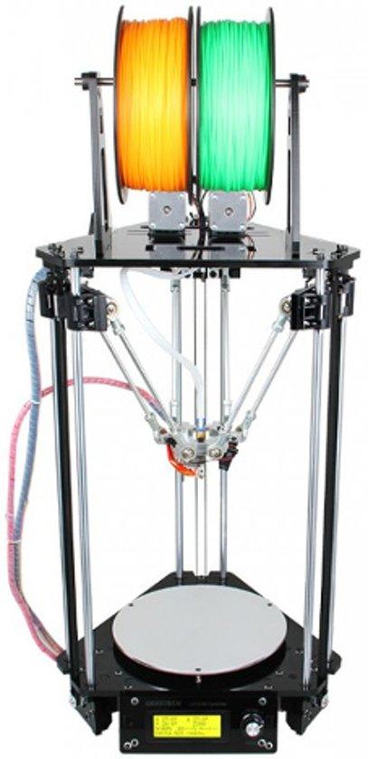 Delta Rostock mini G2S Pro - dual extruder - Zelfbouw 3D printer met heated bed + auto level