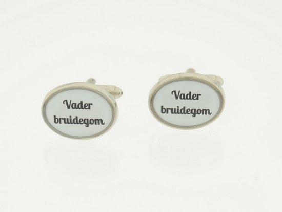 Treasure Trove® Manchetknopen Bruiloft Vader bruidegom - Modern - Ovaal - Heren