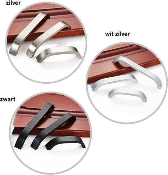 Zilverkleurig metalen handgreep 160 mm