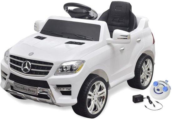 KinderCar Mercedes Benz ML350 wit 6V Elektrische auto met afstandsbediening