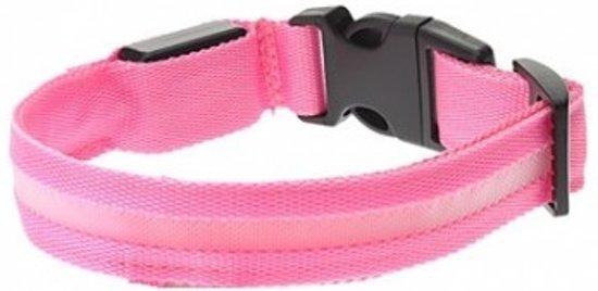 LED honden halsband -  Roze S
