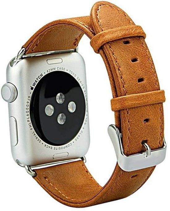 Leren Horloge Band 42MM Voor de Apple Watch (Series 2) - Watchband Armband Voor de iWatch - Bruin