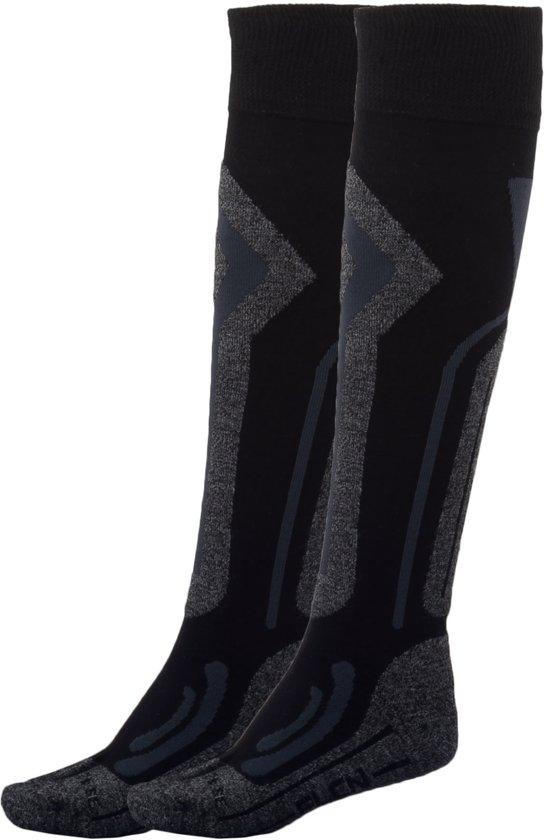 Falcon Coolly B Wintersportsokken - Maat 39-42 - Unisex - zwart/grijs