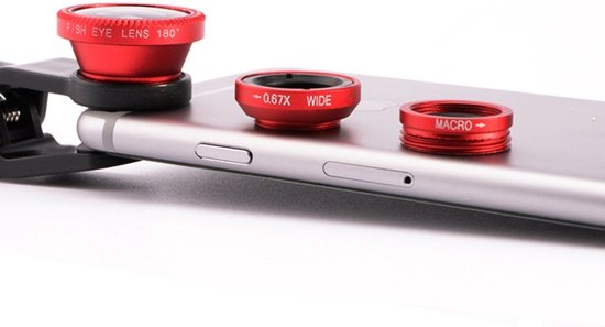 Camera Clip Lens Kit / Set Smartphone - Fish Eye / Macro / Wide Angle Groothoek