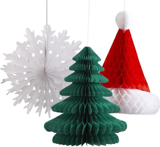 Kerst honeycomb set (3 stuks) Valentinaa
