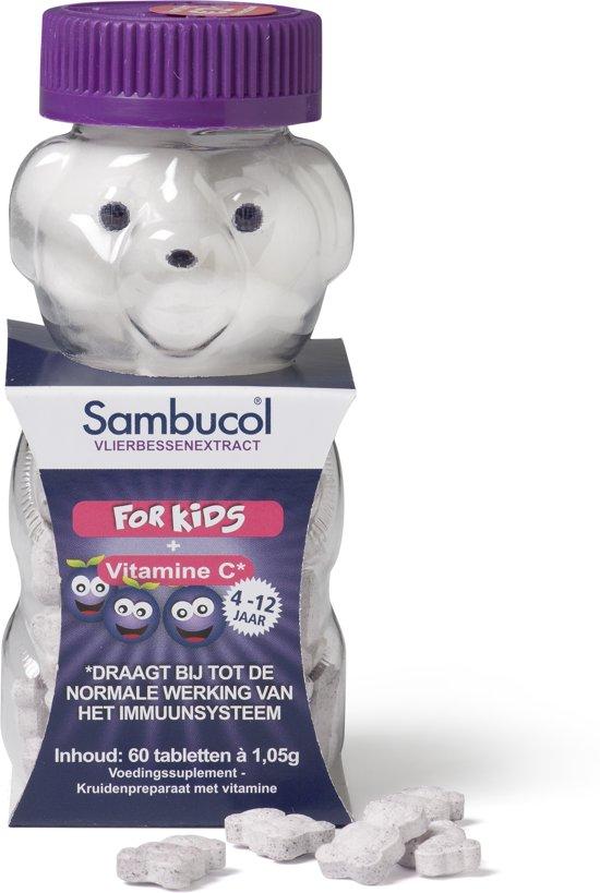 Sambucol Kauwtabletten Kids - 60 kauwtabletten - Voedingssupplement