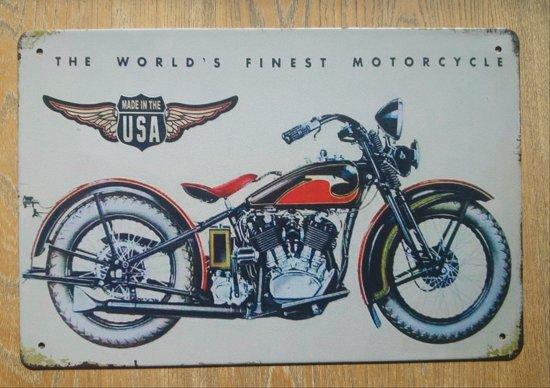 Decoratie Borden Voor Aan De Muur.Bol Com Wandbord Motor 2 Retro Vintage Wand Bord Muur