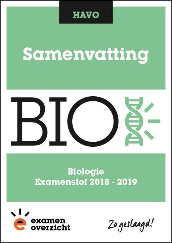 ExamenOverzicht - Samenvatting Biologie HAVO