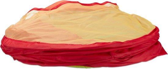 relaxdays speeltent ballenbak - vanaf 3 jaar - pop-up-systeem tent - 50 ballen - kleurrijk