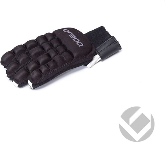 Brabo F2 Indoor Player Glove Sr. - Zaalhockeyhandschoen - Links - Maat M - Zwart