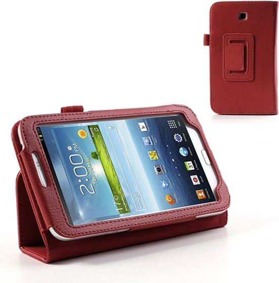 Samsung Galaxy Tab 3 7.0 Bookcase Hoesje Rood