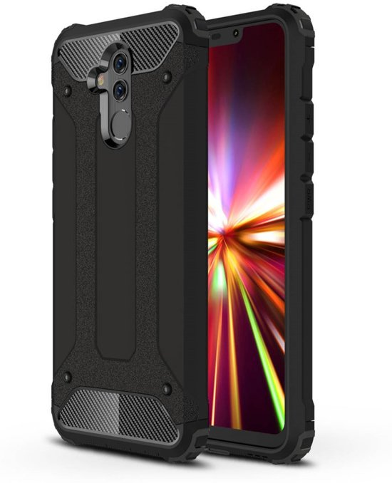 Armor Hybrid Huawei Mate 20 Lite Hoesje - Zwart