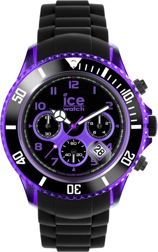 ice watch ice chrono black purple big horloge. Black Bedroom Furniture Sets. Home Design Ideas